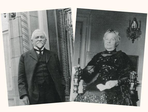 Henry Pittock and Georgiana Burton Pittock