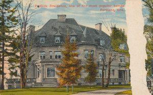 Antique Pittock Mansion postcard