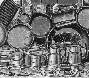 Cooking accessories from the 1908 Sears & Roebuck catalog