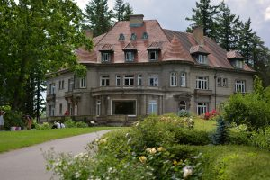Pittock Mansion on a summer day
