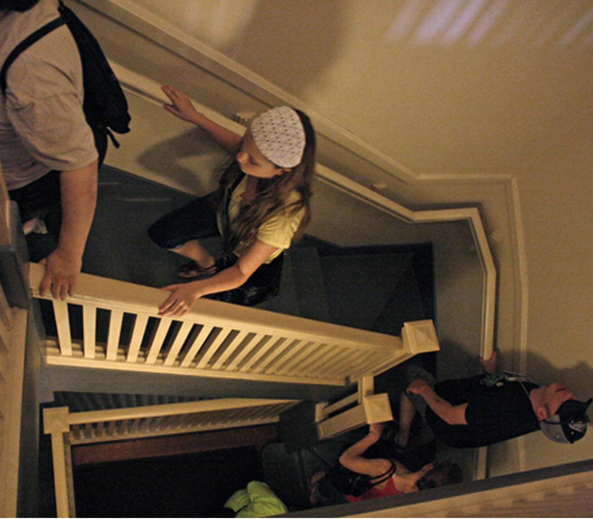 Guests Walking Upstairs at Pittock Mansion