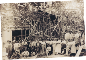 Tenino Stone workers at Pittock Mansion construction