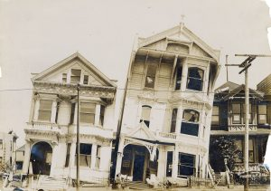Homes damaged by the 1906 San Francisco earthquake