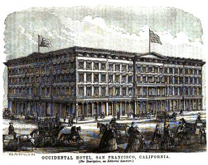 Engraving of The Occidental Hotel