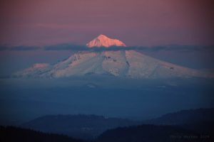 View of Mt. Hood from Pittock Mansion. Photo by Chris Markes.